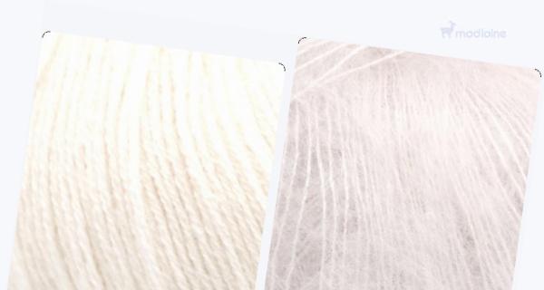 Comparer :  Knitting For Olive Merino Natural White,  Knitting For Olive Soft Silk Mohair Sky