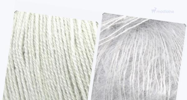 Comparer :  Knitting For Olive Merino Putty,  Knitting For Olive Soft Silk Mohair Pearl Gray