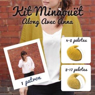 Kit Cardigan Minaouët Mustard / Dusty Honey - Madlaine