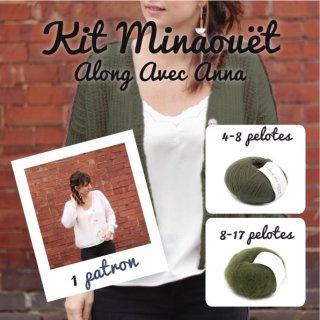 Kit Cardigan Minaouët Dusty Olive / Slate Green - Madlaine