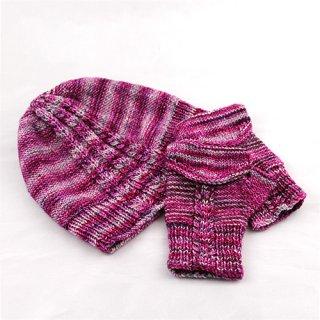 Librairie Modèle Bonnet et mitaines Magic Pink par Xiaowei