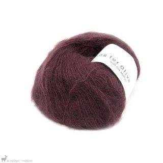 Fil de soie Knitting For Olive Soft Silk Mohair Bordeaux