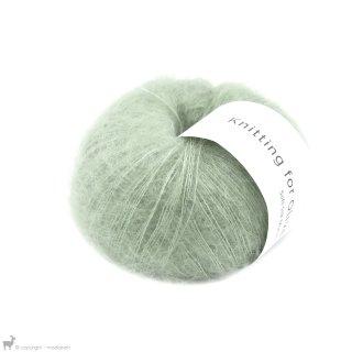 Fil de soie Knitting For Olive Soft Silk Mohair Dusty Artichoke