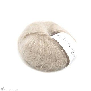 Fil de soie Knitting For Olive Soft Silk Mohair Oat