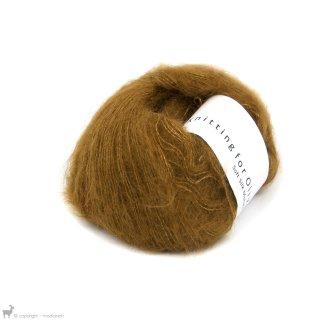 Fil de soie Knitting For Olive Soft Silk Mohair Ocher Brown