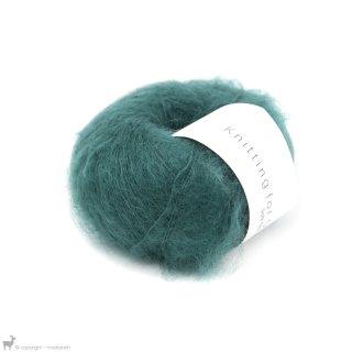 Fil de soie Knitting For Olive Soft Silk Mohair Petroleum Green