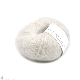 Fil de soie Knitting For Olive Soft Silk Mohair Putty
