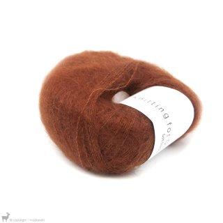 Fil de soie Knitting For Olive Soft Silk Mohair Rust