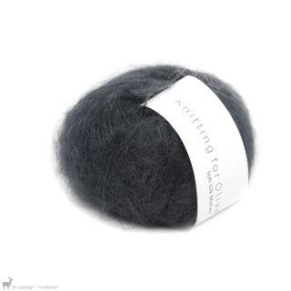 Fil de soie Knitting For Olive Soft Silk Mohair Slate Gray