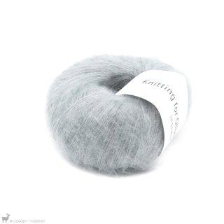 Fil de soie Knitting For Olive Soft Silk Mohair Soft Blue