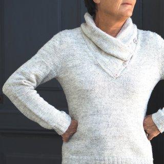 Pull femme Modèle pullover Campanule par Hel et Zel