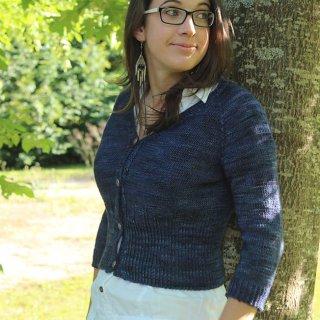 Gilet femme Modèle Cardigan Grand Agora par Instants de Louise