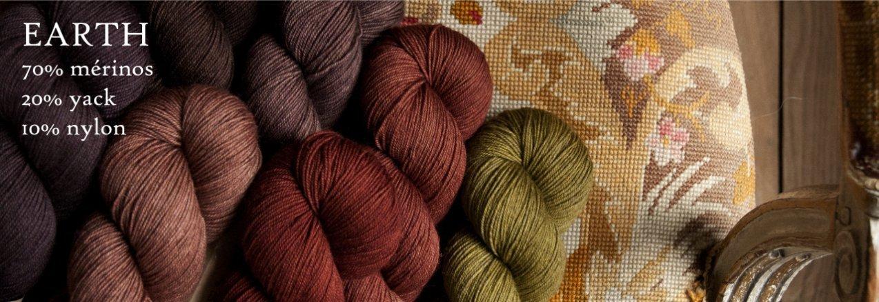 LITLG Earth, une laine chaussettes à base de yack - madlaine.fr