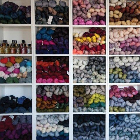 Magasin de laine dans les Vosges